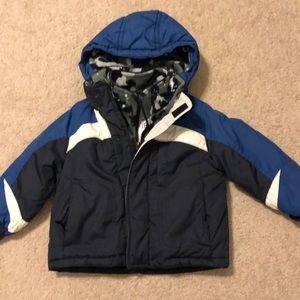 Boys Winter Jacket with Removable Hood
